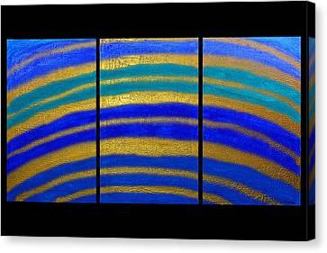Best Art Choice Award Original Abstract Oil Painting Modern Blue Contemporary House Deco Gallery Canvas Print by Emma Lambert