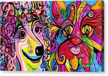 Best Friends Canvas Print by Eloise Schneider