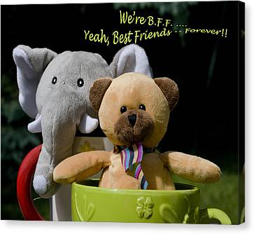 Canvas Print featuring the photograph Best Friends Forever by Rhonda McDougall