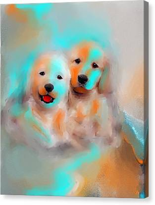 Best Friends Canvas Print by Larry Cirigliano