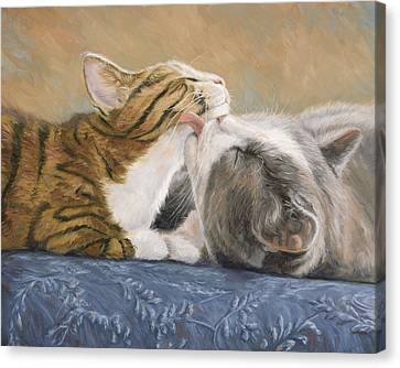 Best Friends Canvas Print by Lucie Bilodeau