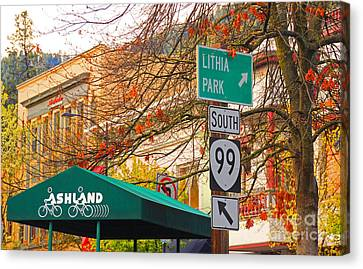 Best Little Town In Oregon Canvas Print by Kris Hiemstra
