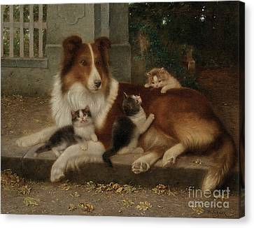 Best Of Friends Canvas Print by Wilhelm Schwar