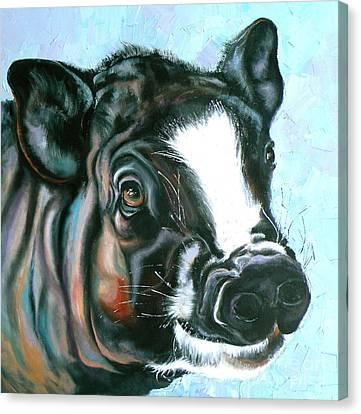 Best Pig Ever Canvas Print by Susan A Becker