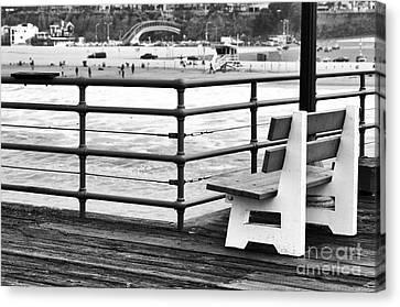 Best Seat On The Boardwalk Canvas Print by John Rizzuto