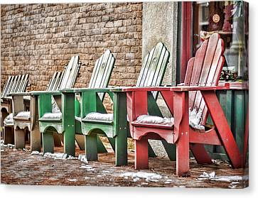 Best Seats In Town Canvas Print by Heather Applegate