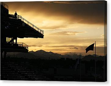Best View Of All - Rockies Stadium Canvas Print by Marilyn Hunt