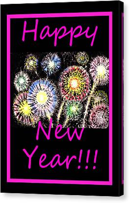 Best Wishes And Happy New Year Canvas Print by Irina Sztukowski