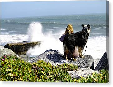 Canvas Print featuring the photograph Bestfriends by Theresa Ramos-DuVon