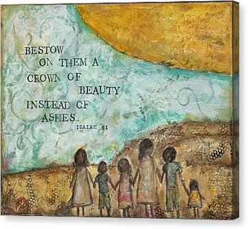 Bestow A Crown Of Beauty Canvas Print by Kirsten Reed