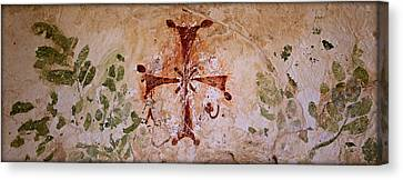Jesus Canvas Print - Bet She'an Christian Fresco  by Stephen Stookey