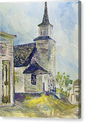 Bethel Church At Buckstop Junction Canvas Print by Helen Campbell