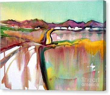 Canvas Print featuring the painting Bethel Road by Teresa Ascone