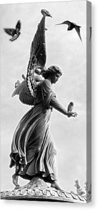 Bethesda Angel Canvas Print by Julie VanDore