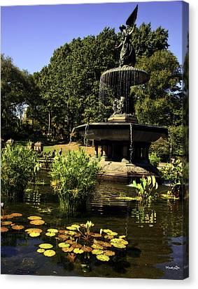 Bethesda Fountain - Central Park 2 Canvas Print by Madeline Ellis