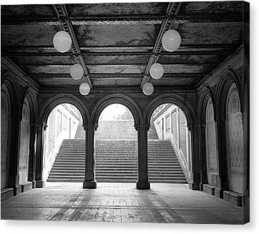 Canvas Print featuring the photograph Bethesda Passage Central Park by Dave Beckerman
