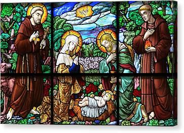 Bethlehem Nativity - Church Of St. Catherine Canvas Print by Stephen Stookey