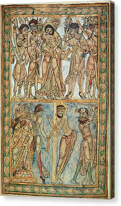 Pilate Canvas Print - Betrayal And Flagellation by British Library