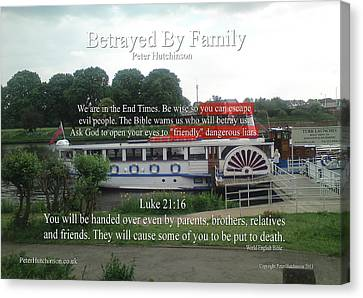 Betrayed By Family Canvas Print by Bible Verse Pictures