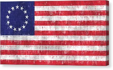 Betsy Ross Flag Canvas Print by World Art Prints And Designs