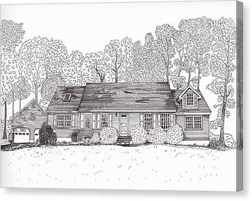Betsy's House Canvas Print by Michelle Welles