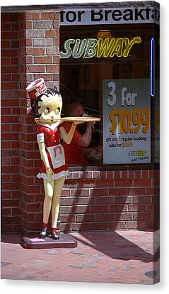 Betty Boop 1 Canvas Print by Frank Romeo