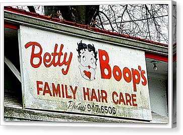 Betty Boops Family Hair Care Canvas Print by Kathy Barney