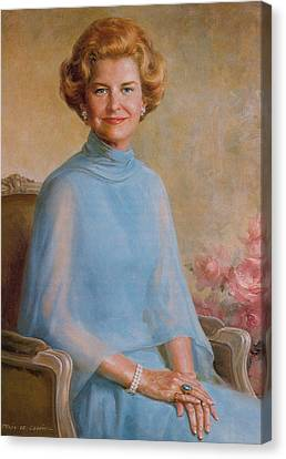 Betty Ford, First Lady Canvas Print by Science Source