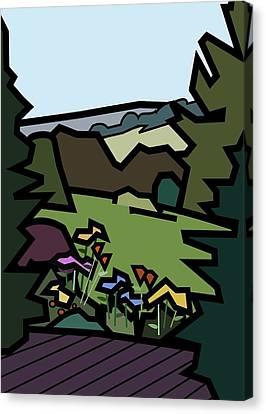 Betty's Garden Canvas Print by Kenneth North