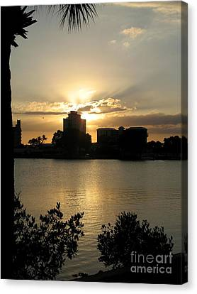Between Day And Night Canvas Print by Christiane Schulze Art And Photography