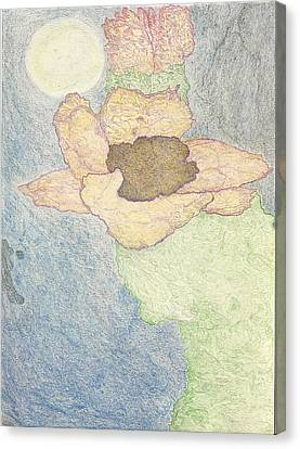 Canvas Print featuring the drawing Between Dreams by Kim Pate
