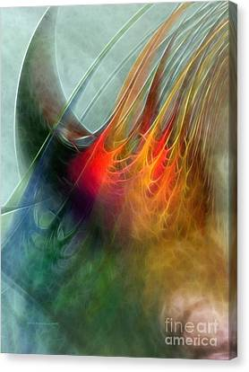 Abstract Expressionism Canvas Print - Between Heaven And Earth-abstract by Karin Kuhlmann