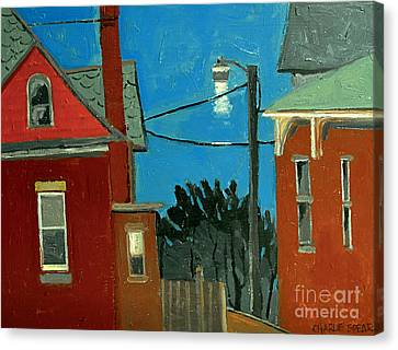 Between The Alley And 6th St Canvas Print by Charlie Spear
