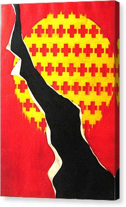 The Void Canvas Print - Between The Crosses by Lyn Ferlo