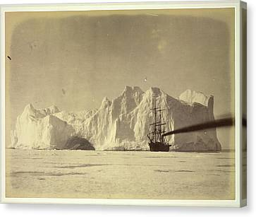 Between The Iceberg And Field-ice Canvas Print by British Library