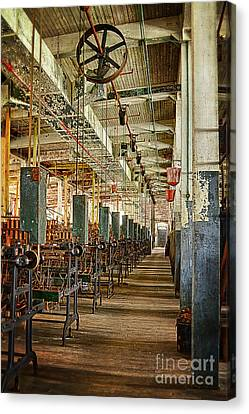 Canvas Print featuring the photograph Between The Machines by Vicki DeVico