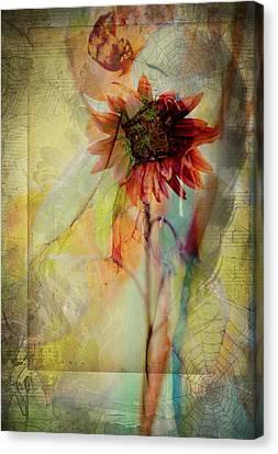 Between The Webs  Canvas Print