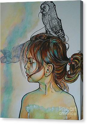 Between Two Parents Canvas Print by Ottilia Zakany