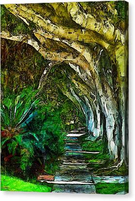 Beverly Hills Jungle Canvas Print by Cary Shapiro