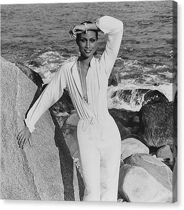 Beverly Johnson Wearing A Jumpsuit Canvas Print