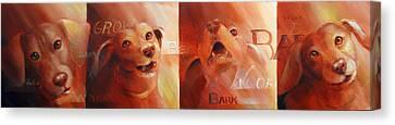 Beware Of Bark Canvas Print by Vanessa Bates