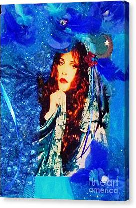 Bewitched In Blue Canvas Print by Alys Caviness-Gober