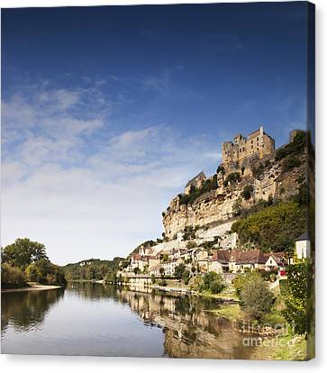 Chateau Canvas Print - Beynac Et Cazenac Limousin France by Colin and Linda McKie
