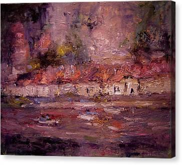 Beynac Canvas Print by R W Goetting