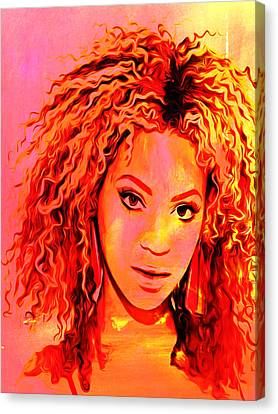 Canvas Print featuring the painting Beyonce by Brian Reaves