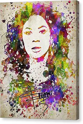 Rhythm And Blues Canvas Print - Beyonce In Color by Aged Pixel