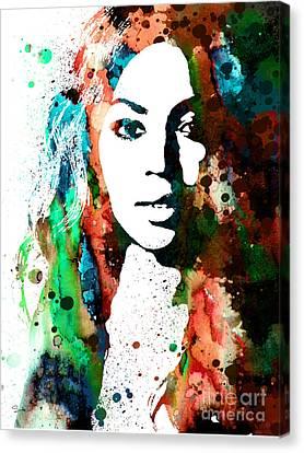 Beyonce Canvas Print by Luke and Slavi