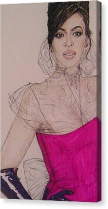 Beyonce Canvas Print by Vicki  Jones