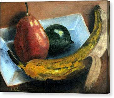 Canvas Print featuring the painting Beyond Banana Nut Bread by LaVonne Hand