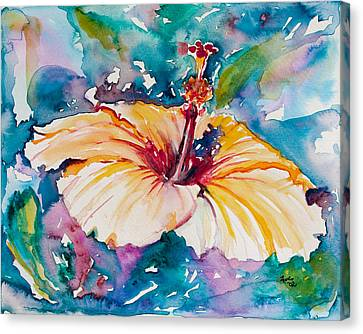 Hibiscus Canvas Print - Beyond Blue by Eve  Wheeler
